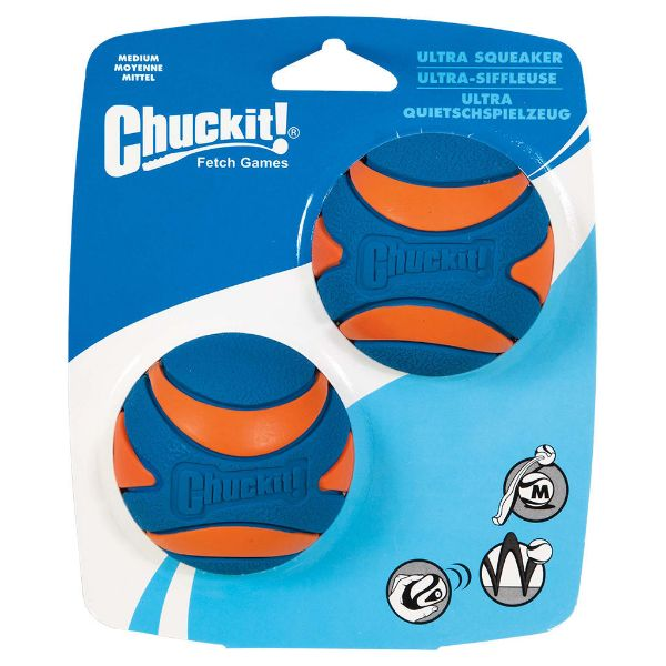 Picture of Chuckit Ultra Squeaker Ball Medium (2pk)