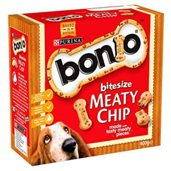 Picture of Bonio Dog - Meaty Chip Bitesize 400g