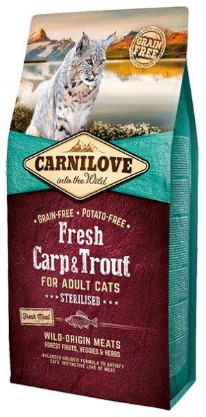 Picture of Carnilove Cat - Adult Fresh Carp & Trout