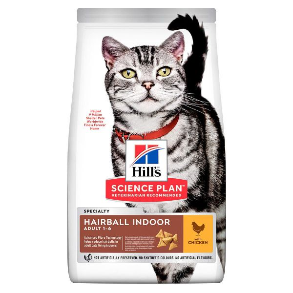 Picture of Science Plan Cat - Adult Hairball Indoor Chicken 7Kg