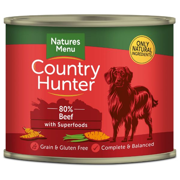 Picture of Natures Menu Dog - Country Hunter Cans Beef with Superfoods 6x600g