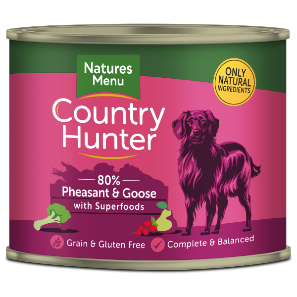 Picture of Natures Menu Dog - Country Hunter Cans Pheasant & Goose 6x600g