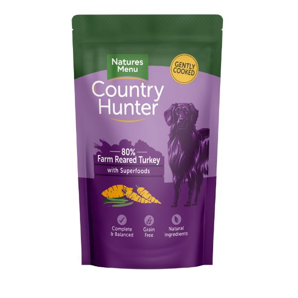 Picture of Natures Menu Dog - Country Hunter Farm Reared Turkey with Superfoods Pouch 18x150g