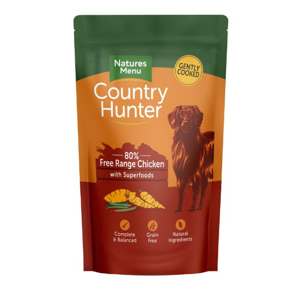 Picture of Natures Menu Dog - Country Hunter Free Range Chicken with Superfoods Pouch 18x150g