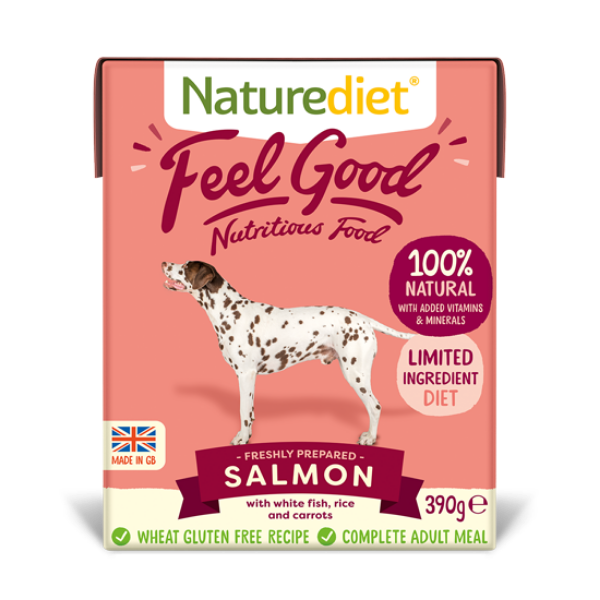 Picture of Nature Diet Dog - Salmon 18x390g