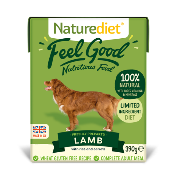 Picture of Nature Diet Dog - Lamb 18x390g