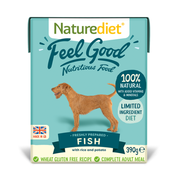 Picture of Nature Diet Dog - Fish & Rice 18x390g