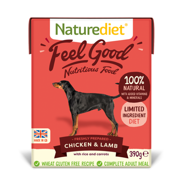 Picture of Nature Diet Dog - Chicken & Lamb 18x390g
