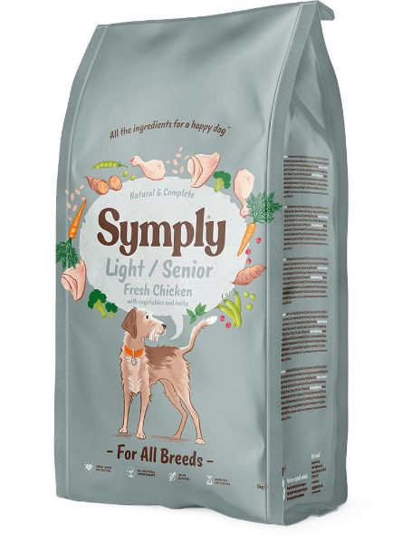 Picture of Symply Dog - Adult Light / Senior Chicken 12Kg