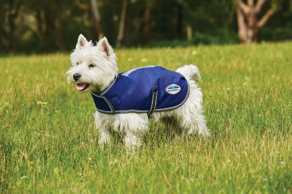 Picture of Weatherbeeta Comfitec Premier Free Parka Dog Coat Dark Blue/Grey/White