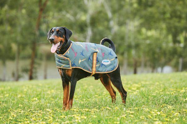 Picture of Weatherbeeta Comfitec Premier Free Parka Dog Coat Green Pheasant Print