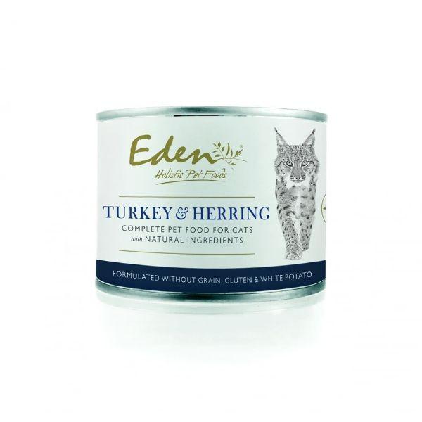 Picture of Eden Cat - Turkey & Herring Cat Tin 6x200g