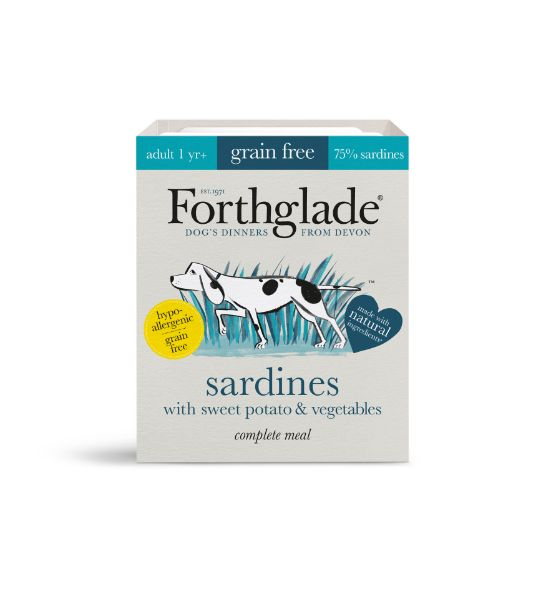Picture of Forthglade Dog - Adult Complete Sardines With Sweet Potato & Vegetables 18x395g