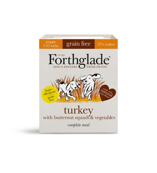 Picture of Forthglade Dog - Puppy Complete Turkey With Butternut Squash & Vegetables 18x395g