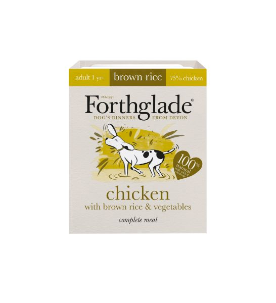 Picture of Forthglade Dog - Adult Complete Chicken with Brown Rice & Vegetables 18x395g