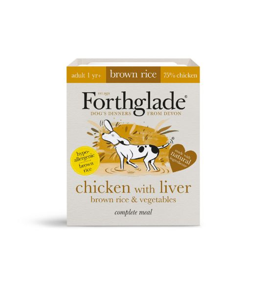Picture of Forthglade Dog - Adult Complete Chicken With Liver, Brown Rice & Vegetables 18x395g