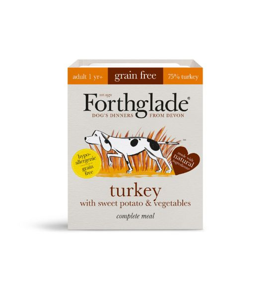 Picture of Forthglade Dog - Adult Grain Free Turkey with Sweet Potato & Vegetables 18x395g