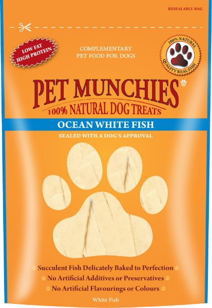 Picture of Pet Munchies Dog Treats - Ocean White Fish 8x100g