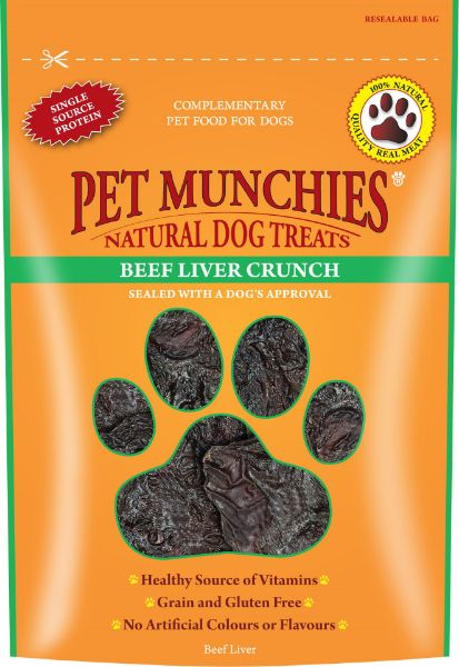 Picture of Pet Munchies Dog Treats - Beef Liver Crunch 8x90g