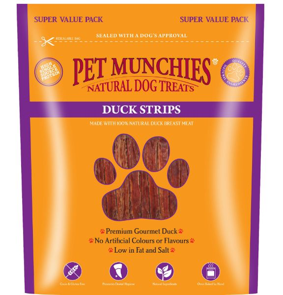 Picture of Pet Munchies Dog Treats- Duck Strips 3x320g