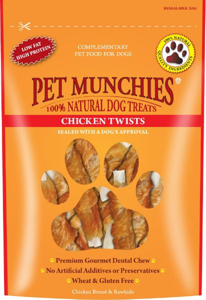 Picture of Pet Munchies Dog Treats - Chicken Twists 8x80g