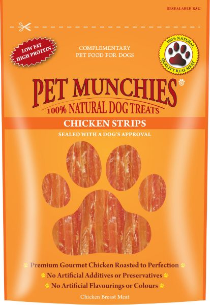 Picture of Pet Munchies Dog Treats - Chicken Strips 8x90g