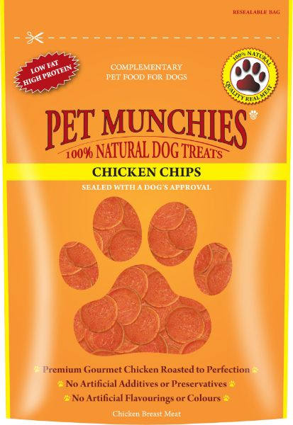 Picture of Pet Munchies Dog Treats - Chicken Chips 8x100g