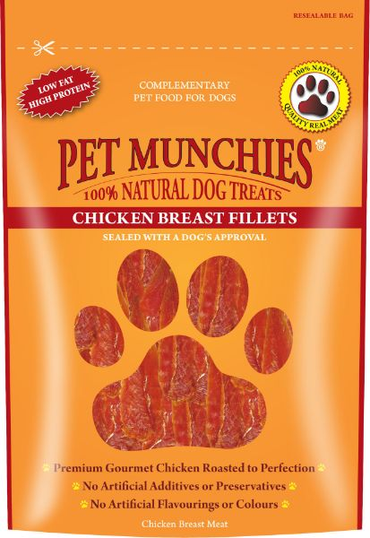 Picture of Pet Munchies Dog Treats- Chicken Breast Fillets 8x100g