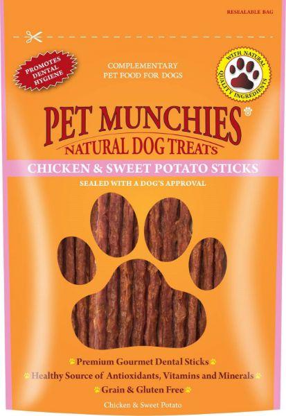 Picture of Pet Munchies Dog Treats - Chicken & Sweet Potato Sticks 8x90g