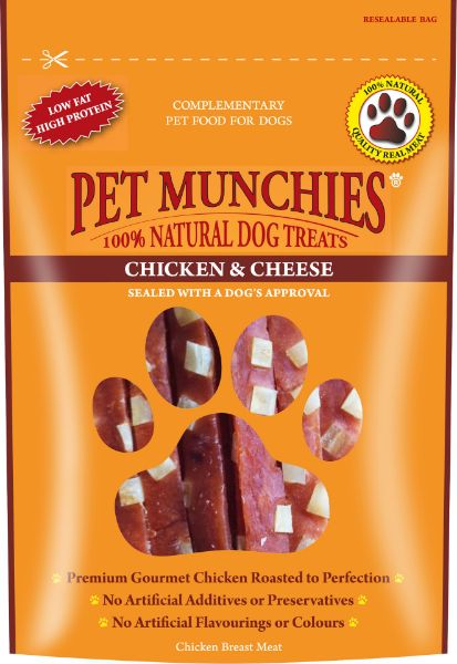 Picture of Pet Munchies Dog Treats - Chicken & Cheese 8x100g