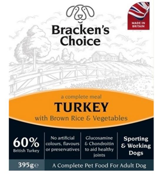 Picture of Bracken's Choice Dog - Working Dog Trays Turkey 10x395g