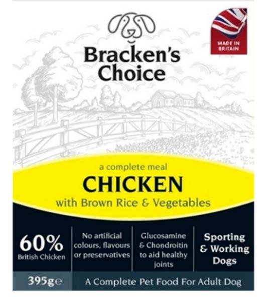 Picture of Bracken's Choice Dog - Working Dog Trays Chicken 10x395g