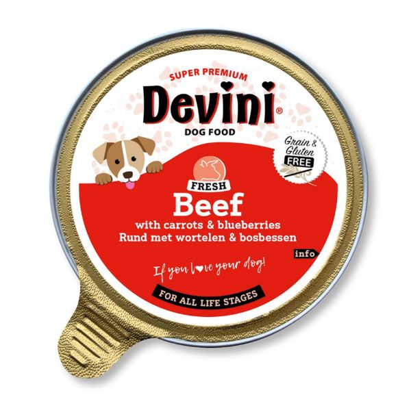 Picture of Devini Dog Food Beef 12x85g