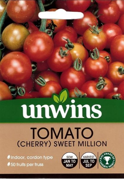 Picture of Unwins Tomato (Cherry) Sweet Million Seeds