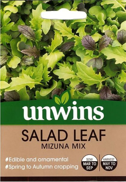 Picture of Unwins Salad Leaf Mizuna Mix Seeds