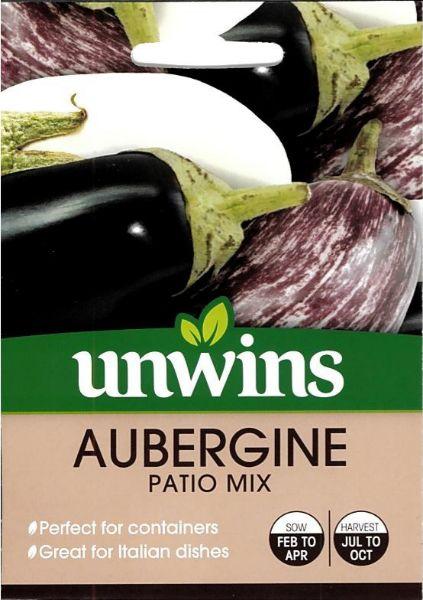 Picture of Unwins Aubergine Patio Mix Seeds