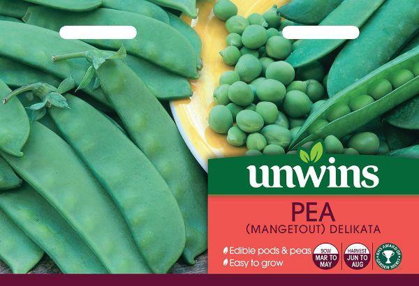 Picture of Unwins Pea (Mangetout) Delikata Seeds