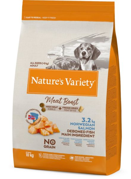 Picture of Natures Variety Dog - Meat Boost Norwegian Salmon 10kg
