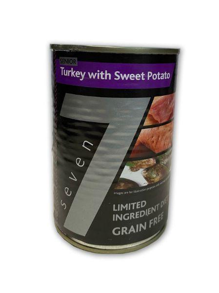 Picture of Seven Dog - Senior Turkey With Sweet Potato Tins 6x400g