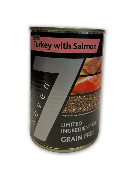 Picture of Seven Puppy - Turkey with Salmon Tins 6x400g