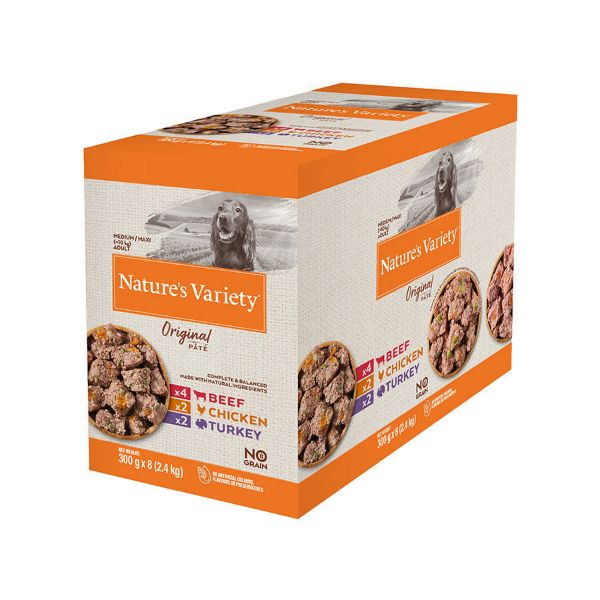 Picture of Natures Variety Dog - Original Pate Medium / Maxi Breed Multipack 8x300g