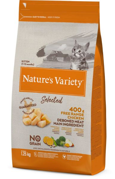 Picture of Natures Variety Cat - Selected Dry Free Range Chicken For Kittens 1.25kg