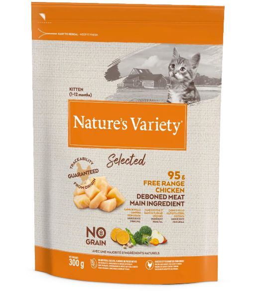 Picture of Natures Variety Cat - Selected Dry Free Range Chicken For Kittens 300g