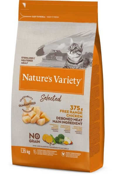 Picture of Natures Variety Cat - Adult Selected Dry Free Run Chicken 1.25kg