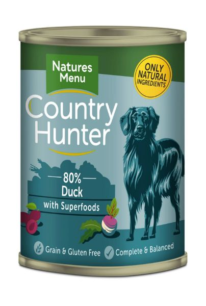 Picture of Natures Menu Dog - Country Hunter Cans Duck & Plum 6x400g